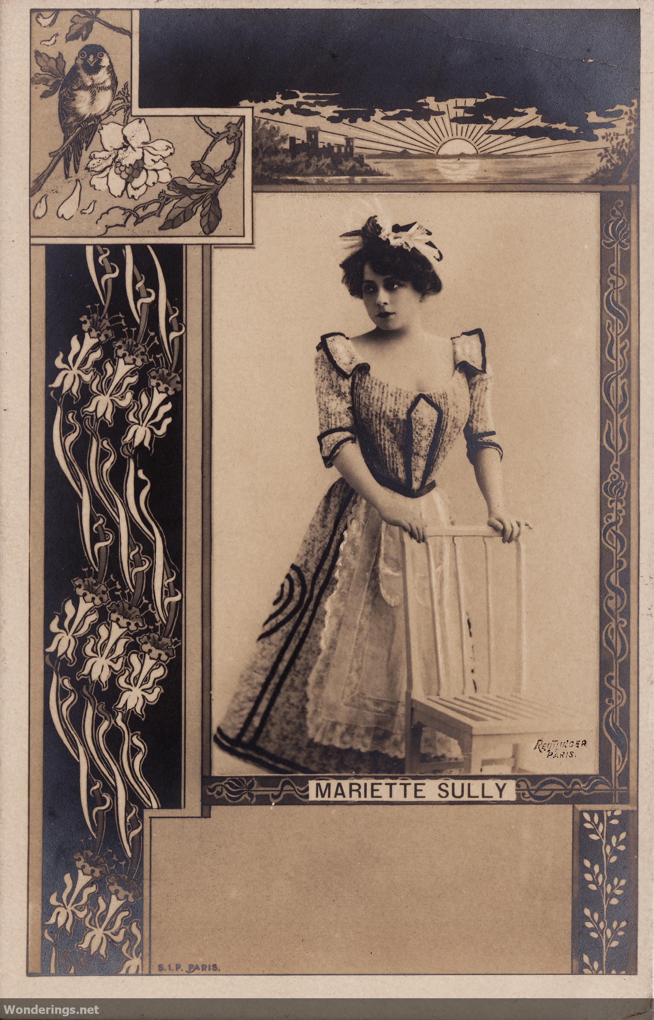 Atelier reutlinger wonderings for Miroir art nouveau