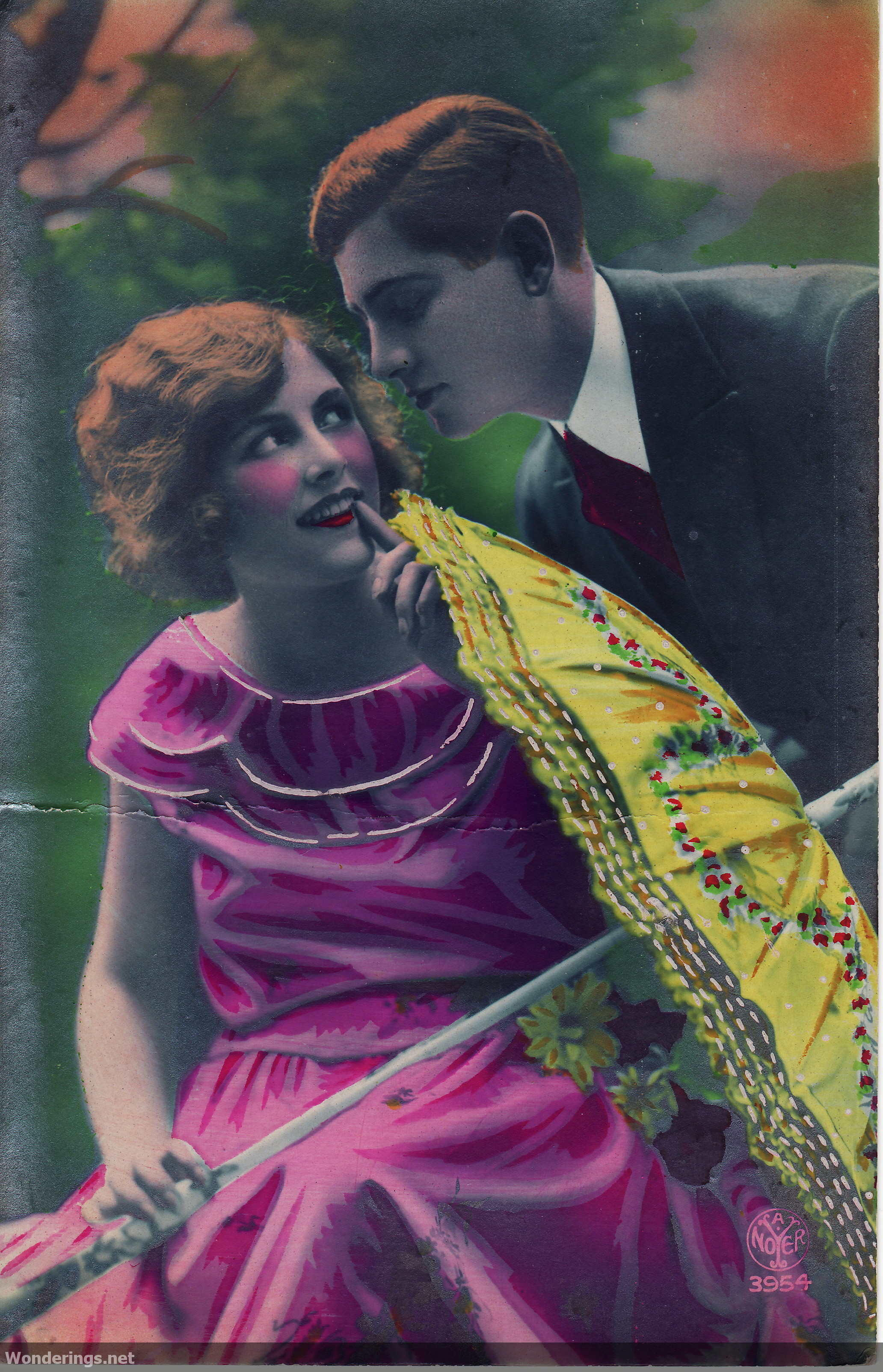 1920s colorized romantic postcards wonderings advertisements sciox Gallery