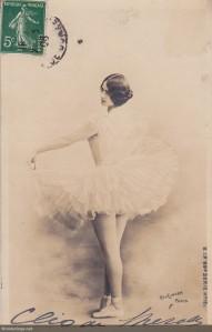 de Merode ballet pre-1904 mailed 1908 (w)
