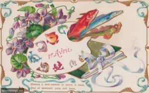 Poisson d'Avril #10-post 1904 (w)