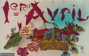 Poisson d'Avril #4-post 1904 (w)