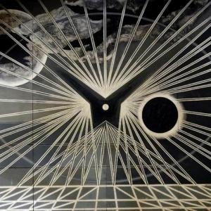 Sound Eclipse (Edward Bawden, Black and White Universe, 1963 - Version 2)