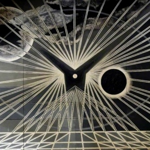 Sound Eclipse (Edward Bawden, Black and White Universe, 1963 - Version 2)