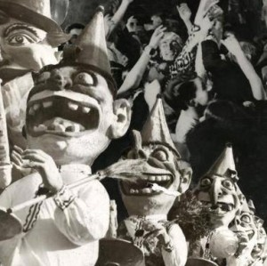 Abstract Artifact ('Fool's Parade', Photo Montage of a Carnival Procession , Netherlands, 1938)