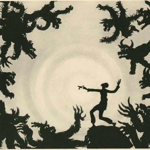 Magic Circle (Aladdin fights the demons of Wak-Wak with his magic lamp)